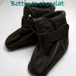 Bottines chocolat  12-18 mois