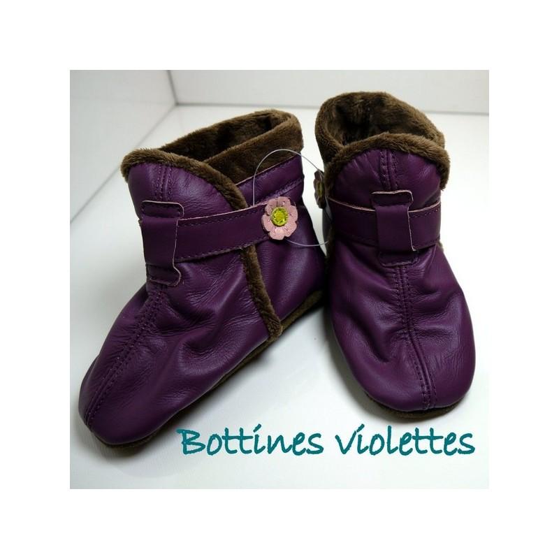 Bottines violettes 2-3 ans