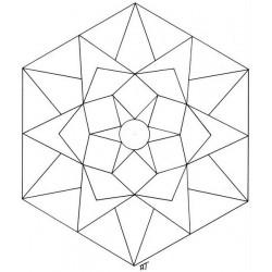 Mandalas hexagones à assembler