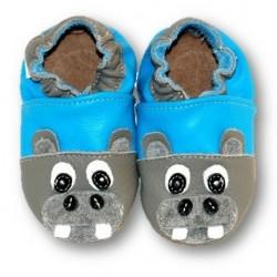 Hippopotame gris et bleu 21