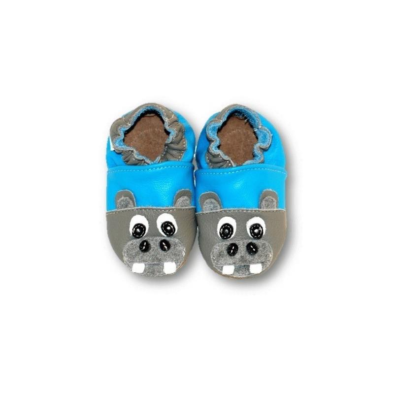 Hippopotame gris et bleu 33