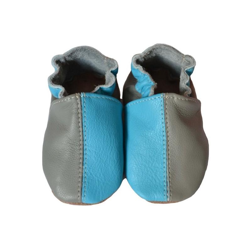 Bicolore turquoise gris 33